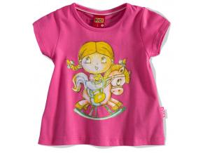 Dívčí tričko KYLY PANENKA růžové