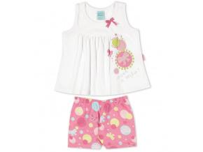 Dívčí letní pyžamo Kyly MAŠLE bílé