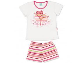 Dívčí pyžamo Kyly BALETKA bílé