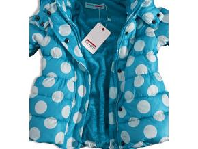 Dívčí zimní bunda MINOTI modrá