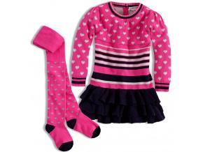 Dívčí pletené šaty MINOTI GLITTER MINOTI