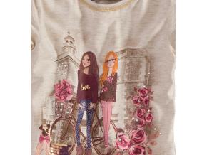 Dívčí triko dlouhý rukáv Lily&Lola PASTEL