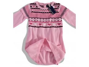 Dívčí pletené šaty + punčocháče MINOTI