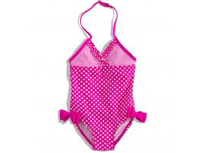 Dívčí plavky Dirkje DOTTY jednodílné růžové s puntíky