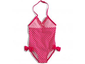 Dívčí plavky Dirkje DOTTY jednodílné červené s puntíky
