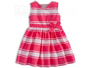 Dívčí šaty MINOTI RIVIERA proužek růžové