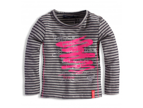 Dívčí triko s potiskem DIRKJE WEIRD ŠEDÉ
