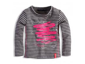 Kojenecké dívčí triko s potiskem DIRKJE ŠEDÉ