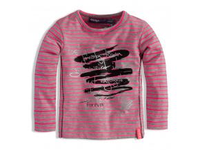 Kojenecké dívčí triko s potiskem DIRKJE RŮŽOVÉ
