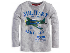 Kojenecké chlapecké triko MINOTI LETADLO šedé