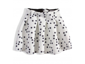 Dívčí sukně MINOTI PERFECT bílá s puntíky