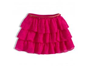 Dívčí krajková sukně MINOTI RAINFOREST růžová