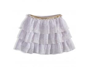 Dívčí krajková sukně MINOTI RAINFOREST bílá