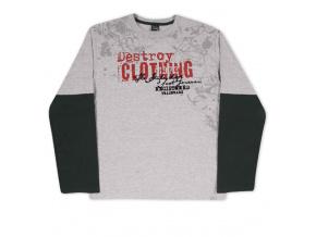 Chlapecké triko KYLY NÁPIS šedé