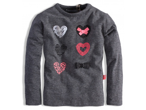 Kojenecké triko pro holčičky DIRKJE CELEBRATE šedé