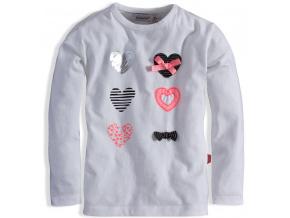 Kojenecké triko pro holčičky DIRKJE CELEBRATE krémové