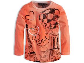 Kojenecké dívčí triko DIRKJE MON AMOUR PARIS oranžové