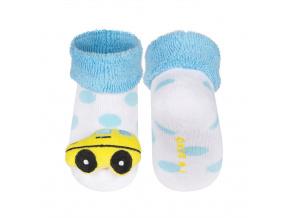 Ponožky s chrastítkem SOXO AUTÍČKO žluté