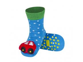 Ponožky s chrastítkem SOXO AUTO červené