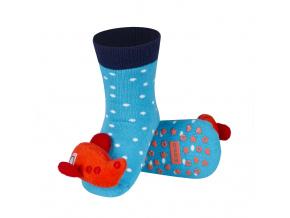 Ponožky s chrastítkem SOXO LETADLO oranžové