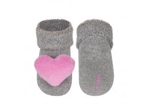 Ponožky s chrastítkem SOXO SRDCE