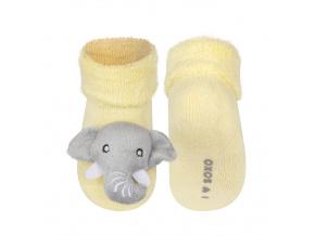 Ponožky s chrastítkem SOXO SLŮNĚ