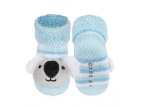 Ponožky s chrastítkem SOXO KOALA modré
