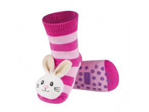 Ponožky s chrastítkem SOXO ZAJÍČEK růžové