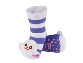 Ponožky s chrastítkem SOXO OVEČKA fialové