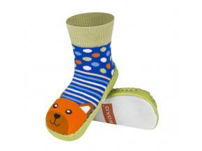 Ponožky s koženou podešví SOXO Medvěd