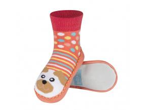Ponožky s koženou podešví SOXO PES