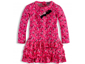 Dívčí šaty s dlouhým rukávem DIRKJE růžové