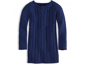 Dívčí pletené šaty MINOTI modré