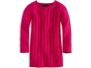 Dívčí pletené šaty MINOTI růžové