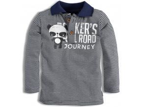 Dětské triko s límečkem DIRKJE RAIL ROAD