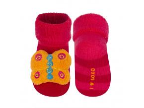 Ponožky s chrastítkem SOXO MOTÝL