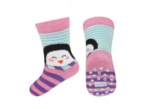 Dětské ponožky s protiskluzem SOXO TUČŇÁK