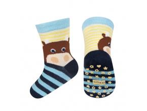 Dětské ponožky s protiskluzem SOXO ZVÍŘÁTKO