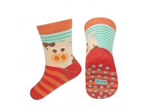 Dětské ponožky s protiskluzem SOXO PRASÁTKO