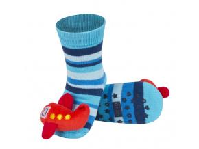 Ponožky s chrastítkem SOXO LETADLO