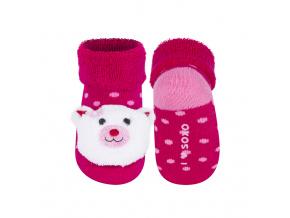 Ponožky s chrastítkem SOXO KOČIČKA