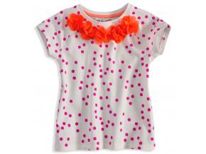 Tričko s krátkým rukávem MINOTI KYTIČKY oranžové