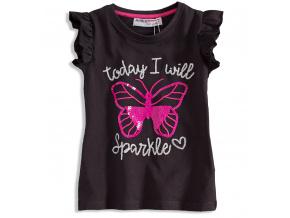 Dívčí tričko s potiskem MINOTI MOTÝL