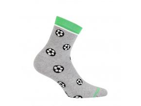 a01bd9f8983 Chlapecké vzorované ponožky WOLA FOTBAL šedé