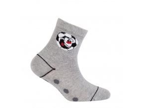 Chlapecké vzorované ponožky WOLA FOTBAL šedé
