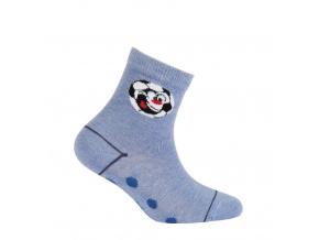 Chlapecké vzorované ponožky WOLA FOTBAL modré