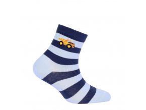 Chlapecké vzorované ponožky WOLA NÁKLAĎÁK modré
