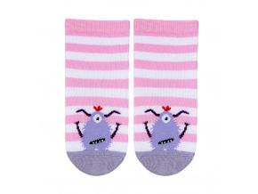 Dívčí vzorované ponožky GATTA PŘÍŠERKA růžové