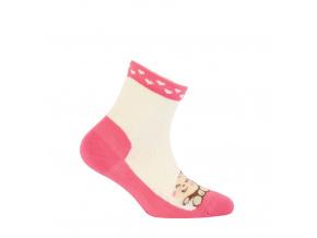 Dívčí vzorované ponožky GATTA OPIČKA smetanové
