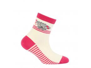 Dívčí vzorované ponožky GATTA MEDVÍDEK krémové